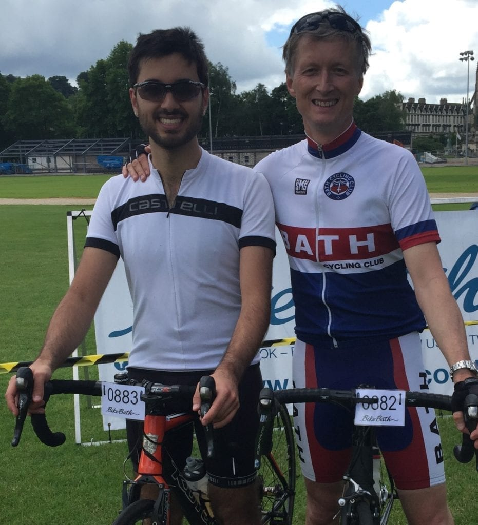 Jonathan Schofield completes 80 mile sportive